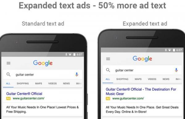 google adwords expanded text ads